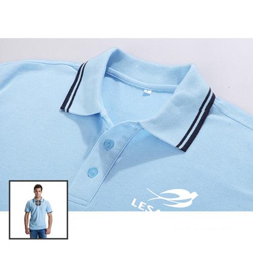 Striped Collar Polo Shirt Image 5