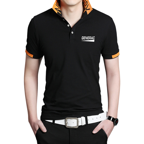 Fashion Logo Collar Polo Shirt Image 1