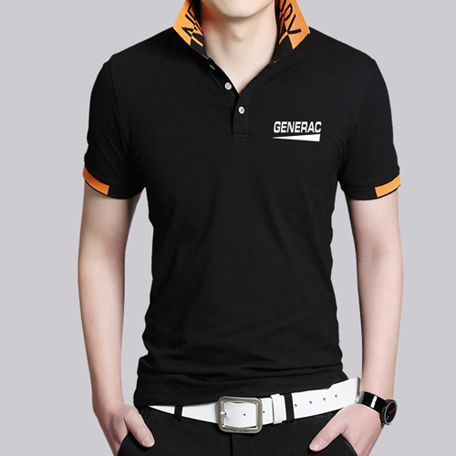 Fashion Logo Collar Polo Shirt Image 2