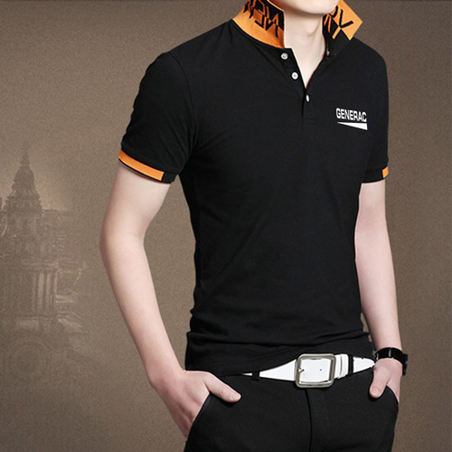 Fashion Logo Collar Polo Shirt Image 3
