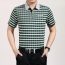 Plaid Short Sleeve Polo T-Shirt Image 2