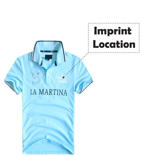 Breathable Cotton Polo Shirt Imprint Image
