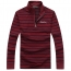 Striped Quarter-Zip Full Sleeve T-Shirt Image 2
