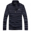 Striped Quarter-Zip Full Sleeve T-Shirt Image 3