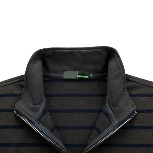 Striped Quarter-Zip Full Sleeve T-Shirt Image 4