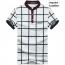 Mandarin Collar Plaid T-Shirt Image 6