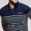 Lapel Stripes Long Sleeve Polo Shirt Image 3