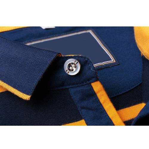 Mini Collar Striped Full Sleeve Mens T-Shirt Image 3
