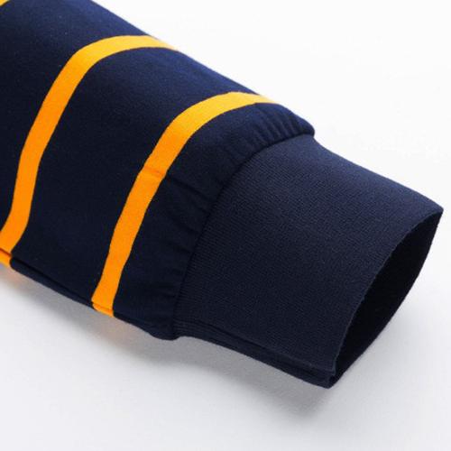 Mini Collar Striped Full Sleeve Mens T-Shirt Image 5