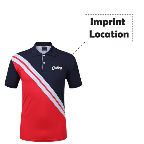 Quick-Dry Short-Sleeved Polo Shirt Imprint Image