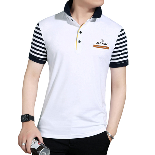 Slim Fit Striped Short Sleeve T-Shirt