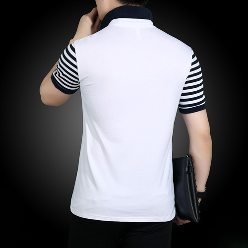 Slim Fit Striped Short Sleeve T-Shirt Image 3