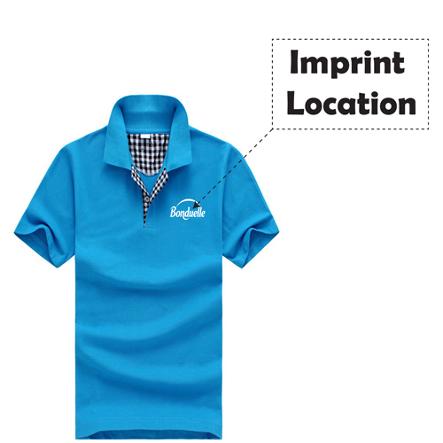 Mens Short Sleeve Polo T-Shirt Imprint Image