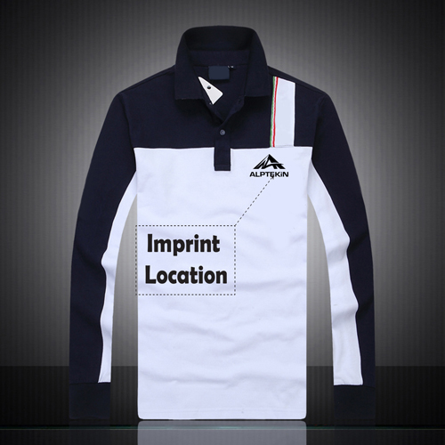 Air Force Long Sleeves Polo Shirt Imprint Image