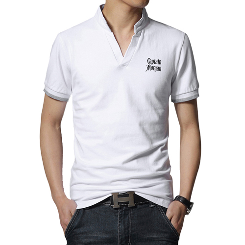 Short Sleeve V Neck Casual Mens T Shirts