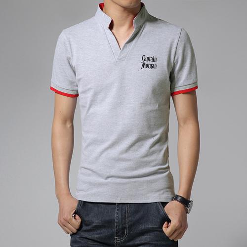 Short Sleeve V Neck Casual Mens T Shirts Image 1