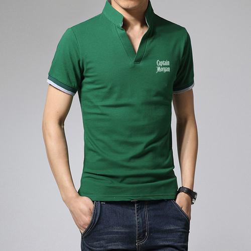 Short Sleeve V Neck Casual Mens T Shirts Image 2