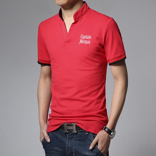Short Sleeve V Neck Casual Mens T Shirts Image 3