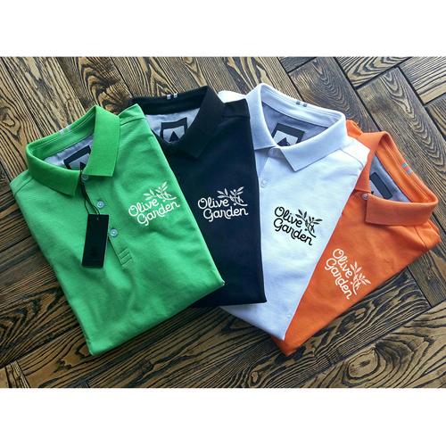 Breathable European Mens Polo Shirt Image 3