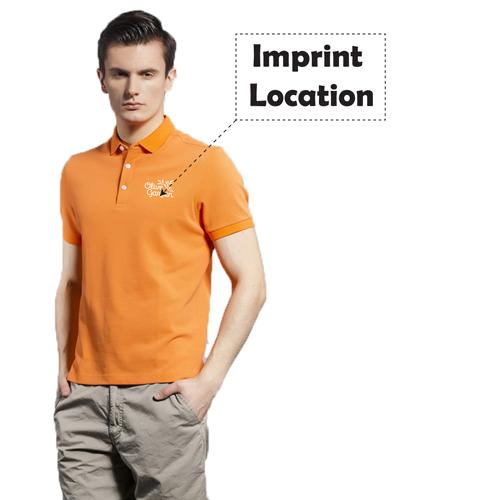 Breathable European Mens Polo Shirt Imprint Image