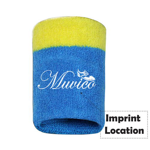 Multicolor Badminton Sports Wristband Imprint Image