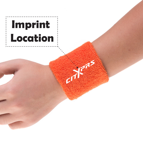 Unisex Sports Sweat WristBand Imprint Image