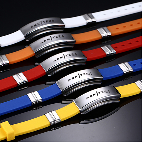 Environmental Rubber Sports Bracelet Image 4