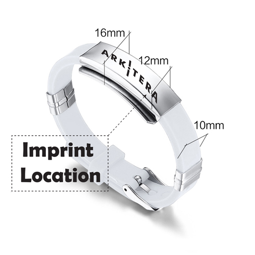 Environmental Rubber Sports Bracelet Imprint Image