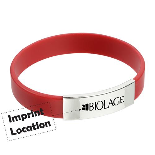 Metal Accent Wristband Imprint Image