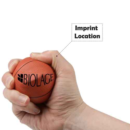 Basketball Stress Reliever Imprint Image
