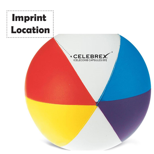 Beach Stress Ball Imprint Image