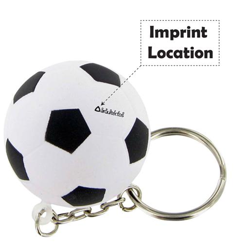Soccer Ball Keychain Imprint Image