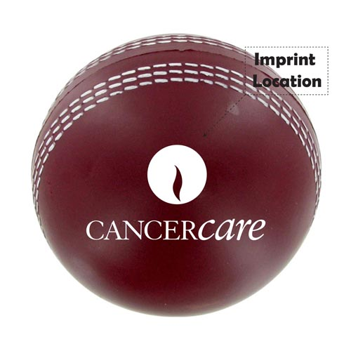 Cricket Ball Stress Reliever Imprint Image