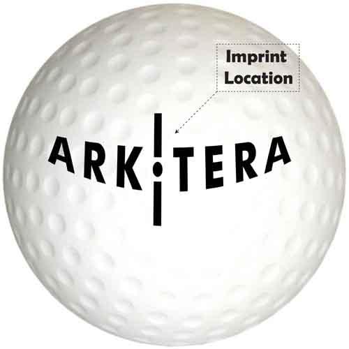 Stress Reliever Golf Ball Imprint Image