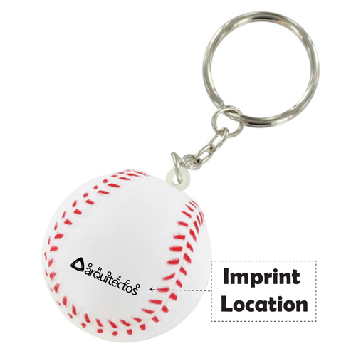 Stress Baseball Key Chain  Imprint Image
