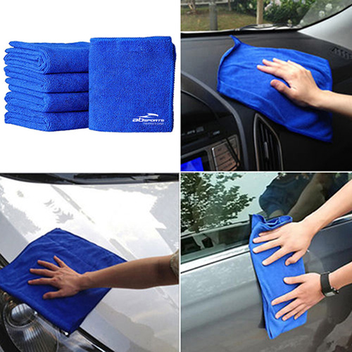 Soft Absorbent Microfiber Car Cleaning Towels Image 1