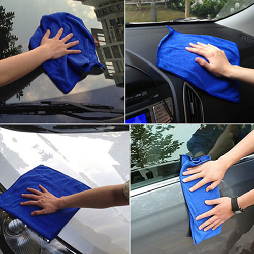 Soft Absorbent Microfiber Car Cleaning Towels Image 5