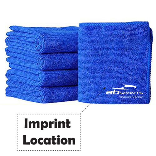 Soft Absorbent Microfiber Car Cleaning Towels Imprint Image