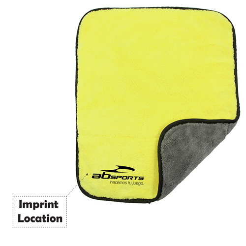 Microfiber Car Cleaning Cloth With Wax Imprint Image
