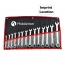 Combination Ratchet Wrench 14 Piece Imprint Image