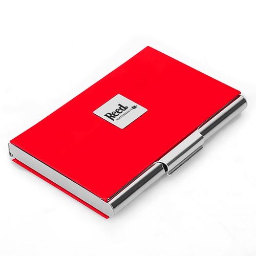 Stainless Steel and PU Credit Card Holder