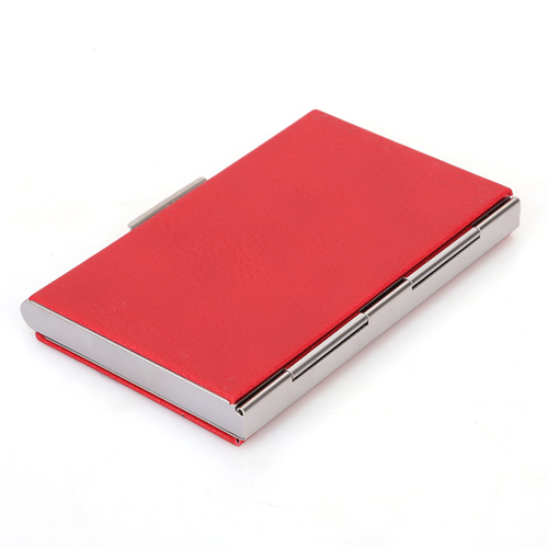 Stainless Steel and PU Credit Card Holder Image 1