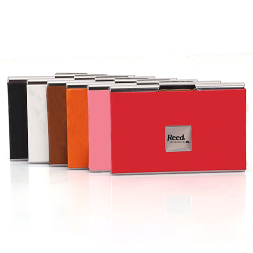Stainless Steel and PU Credit Card Holder Image 2
