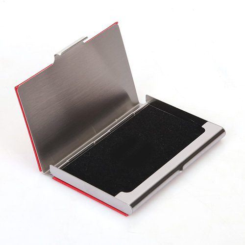 Stainless Steel and PU Credit Card Holder Image 3