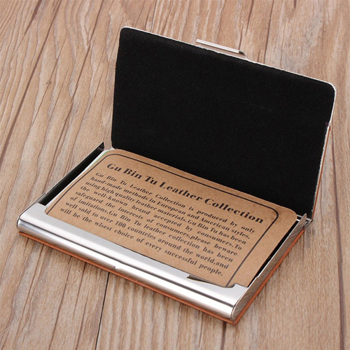Stainless Steel Business Bank Card Case Image 2