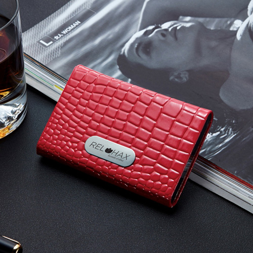 PU Leather and Stainless Steel Bank Card Holder Image 1