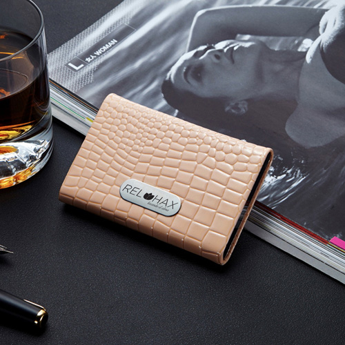 PU Leather and Stainless Steel Bank Card Holder Image 3