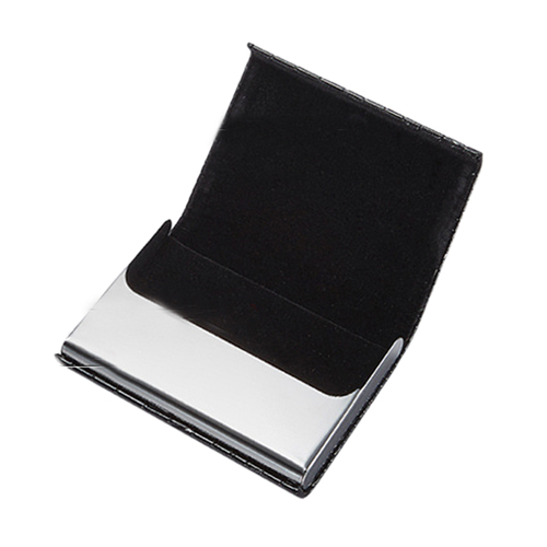 PU Leather and Stainless Steel Bank Card Holder Image 4