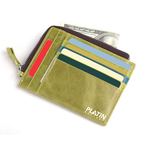 Leather Simple Credit Card ID Holder Image 3