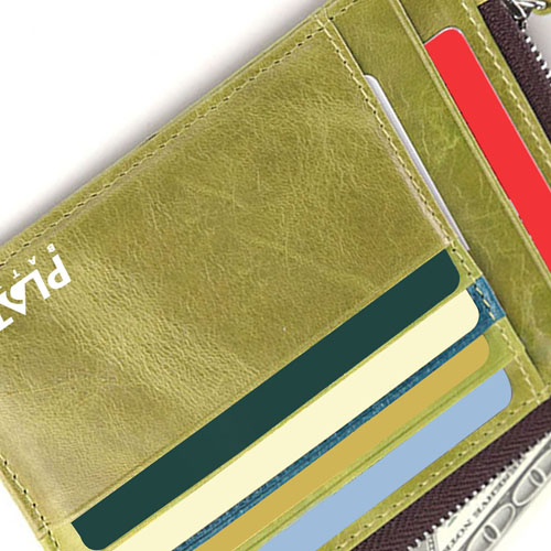 Leather Simple Credit Card ID Holder Image 4